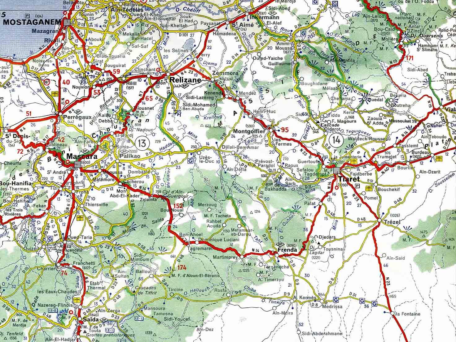 """Vous pouvez agrandir la partie gauche de la carte à toute la """"Région ..."""